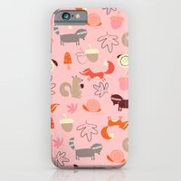 Pink Woodland Animals iPhone 6 Slim Case