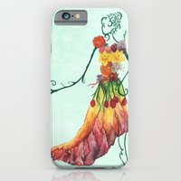 iPhone & iPod Case featuring Female Floral by M. Everitt