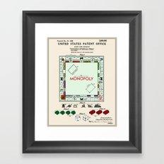 Monopoly Patent Framed Art Print