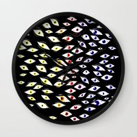 Eyes All Over Wall Clock