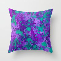 Purple Reign Throw Pillow