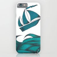 iPhone & iPod Case featuring Poseidon Goddess of the Sea by One Curious Chip