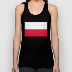 National flag of Poland Unisex Tank Top