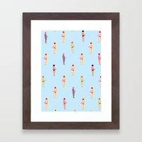 Beach side Framed Art Print