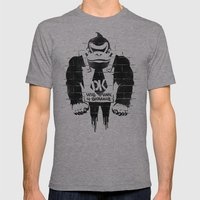 DONKSY Mens Fitted Tee Athletic Grey SMALL