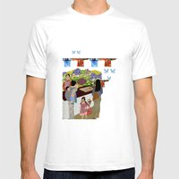 Happy Valley Flower Market Mens Fitted Tee White SMALL