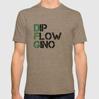 Dip, Flow, Gino Mens Fitted Tee Tri-Coffee SMALL