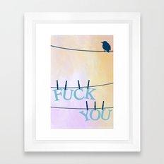 F U Framed Art Print
