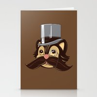 Cat And Moustache Stationery Cards