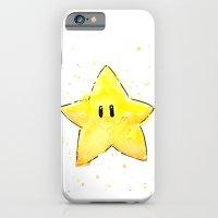 Invincibility Star Mario Art iPhone 6 Slim Case