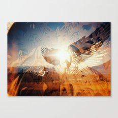 Flying is Made of the Sky, Sun and Stars Canvas Print