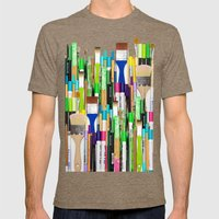 Real Weapons Of Mass Cre… Mens Fitted Tee Tri-Coffee SMALL