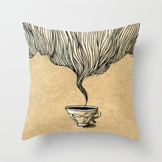 Cup Of Tea Throw Pillow