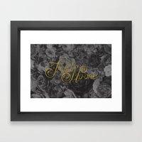 Trust No-one Lettering Framed Art Print