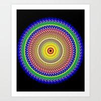 Carnival Mandala Art Print