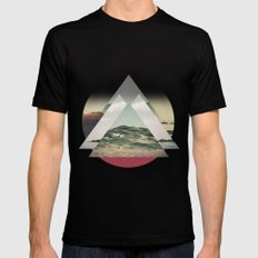 Perceptions landscapes SMALL Black Mens Fitted Tee