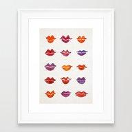 Watercolor Kisses Framed Art Print