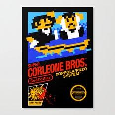Super Corleone Bros Canvas Print