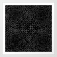 Black And White Overlap … Art Print