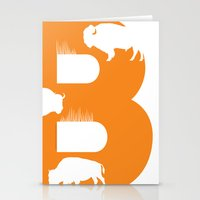 B is for Bison - Animal Alphabet Series Stationery Cards