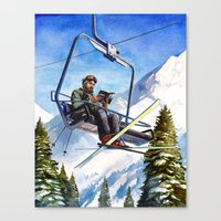 Alpine Paperback Canvas Print