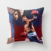 Manny Pacquiao aka Kamao Ng Bayan Throw Pillow