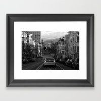 Black And White San Fran… Framed Art Print