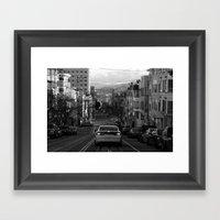 Black And White San Fran… Framed Art Print