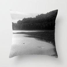 Peace of Swan Lake Throw Pillow