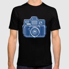 I Still Shoot Film Holga Logo - Blue SMALL Black Mens Fitted Tee
