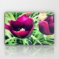 Purple Tulips in Bloom Laptop & iPad Skin