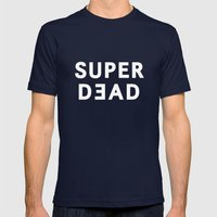 SUPER DEAD! Mens Fitted Tee Navy SMALL