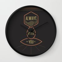 Always With You Baby Gir… Wall Clock