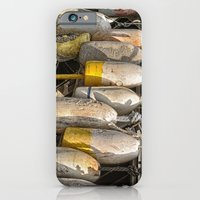 Old buoys at the dock iPhone 6 Slim Case