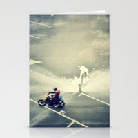 Riding On Paint Stationery Cards