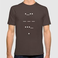 Love In Morse Mens Fitted Tee Brown SMALL