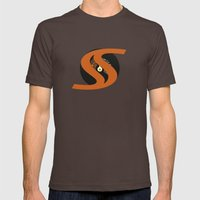 FULL SPEED AHEAD Mens Fitted Tee Brown SMALL