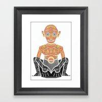 Gollum Framed Art Print