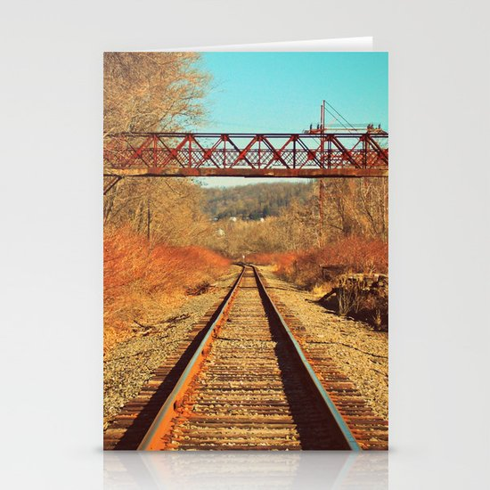 On The Right Track Stationery Card