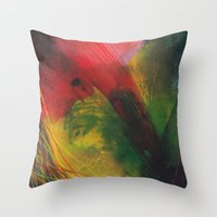 rapid movement Throw Pillow