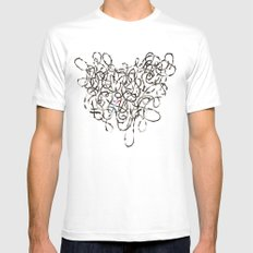 Unmapped 9 White SMALL Mens Fitted Tee