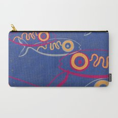 Keep swimming (dark blue) Carry-All Pouch