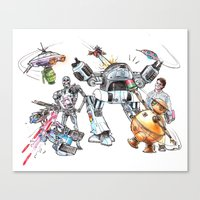 Bolts Vs. Bots Canvas Print