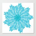 Blue flow er Canvas Print