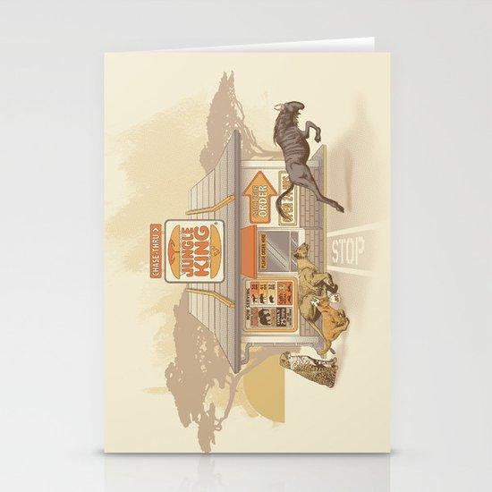 Fast Food (Jungle King) Stationery Card