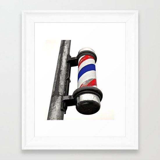 Haircuts here Framed Art Print