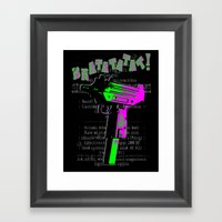 BRATATATAT! Framed Art Print