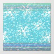 Canvas Print featuring Let It Snow Blue by Ariadne