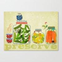 Bottle & Preserve Canvas Print
