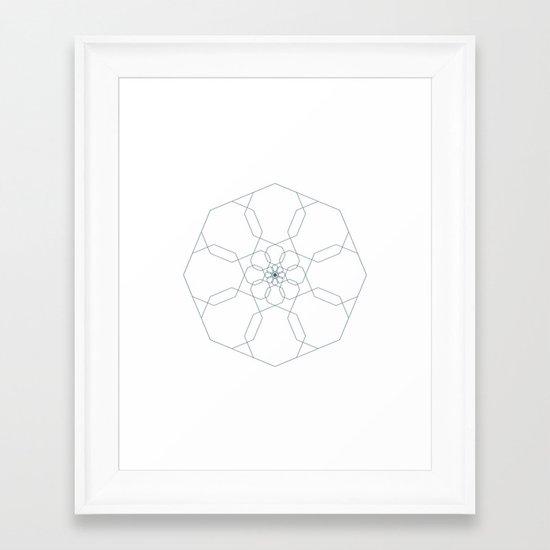 #405 Octangularity – Geometry Daily Framed Art Print